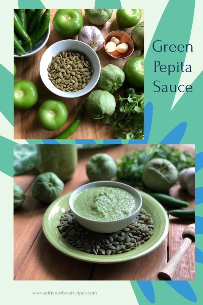 Delicious green pepita sauce, an authentic recipe from Mexico
