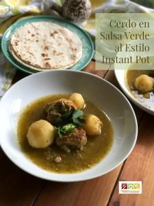 Este guisado de cerdo en salsa verde al estilo Instant Pot es una receta hogareña y llena de sabor