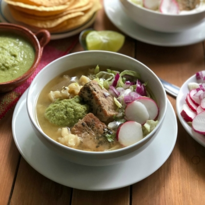 Instant Pot Green Pork Pozole Feast