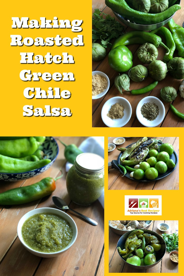 Making the Roasted Hatch Green Chile Salsa is easy