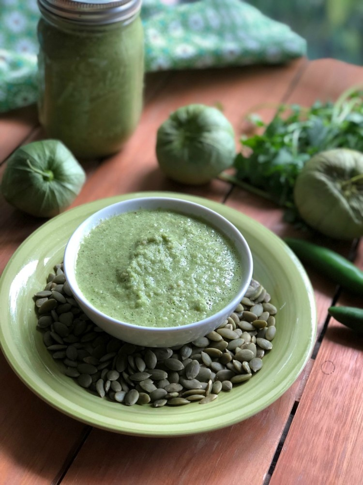 The green pepita sauce is a typical side dish from Guerrero