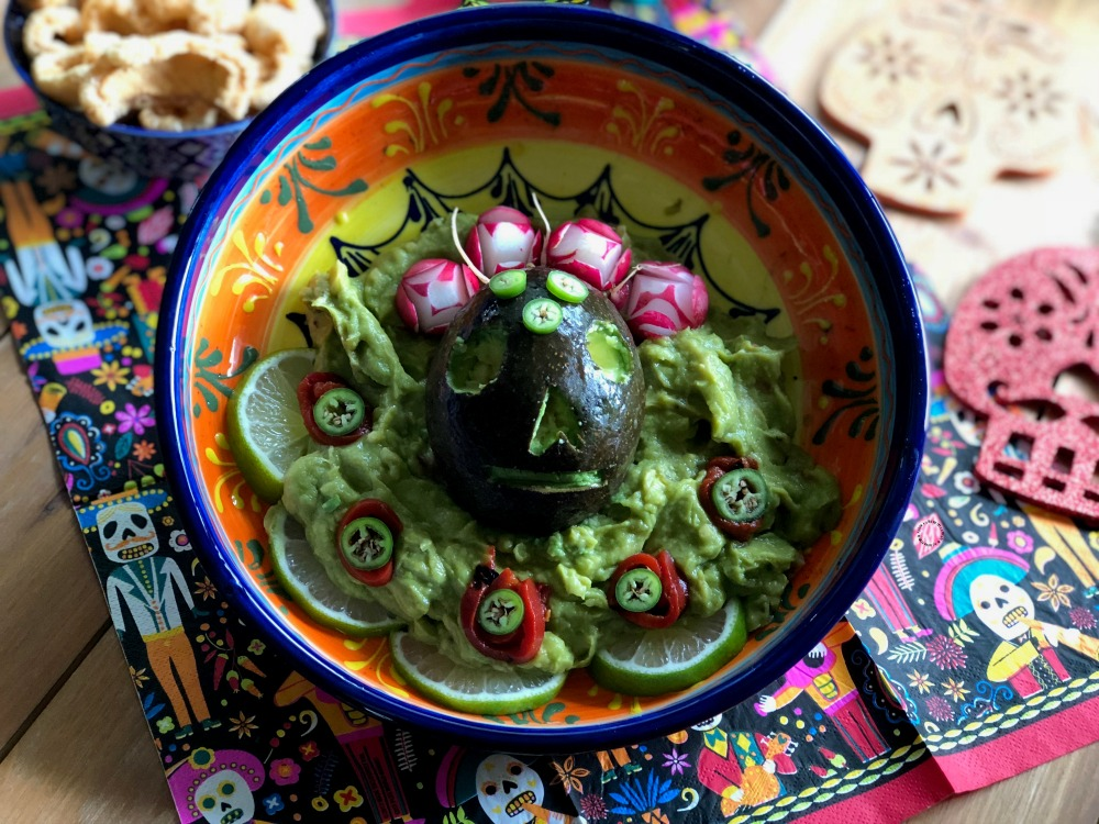 Easy Skull Guacamole Recipe