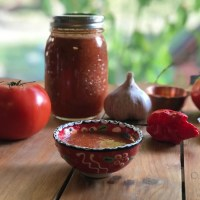 Roasted Carolina Reaper Salsa