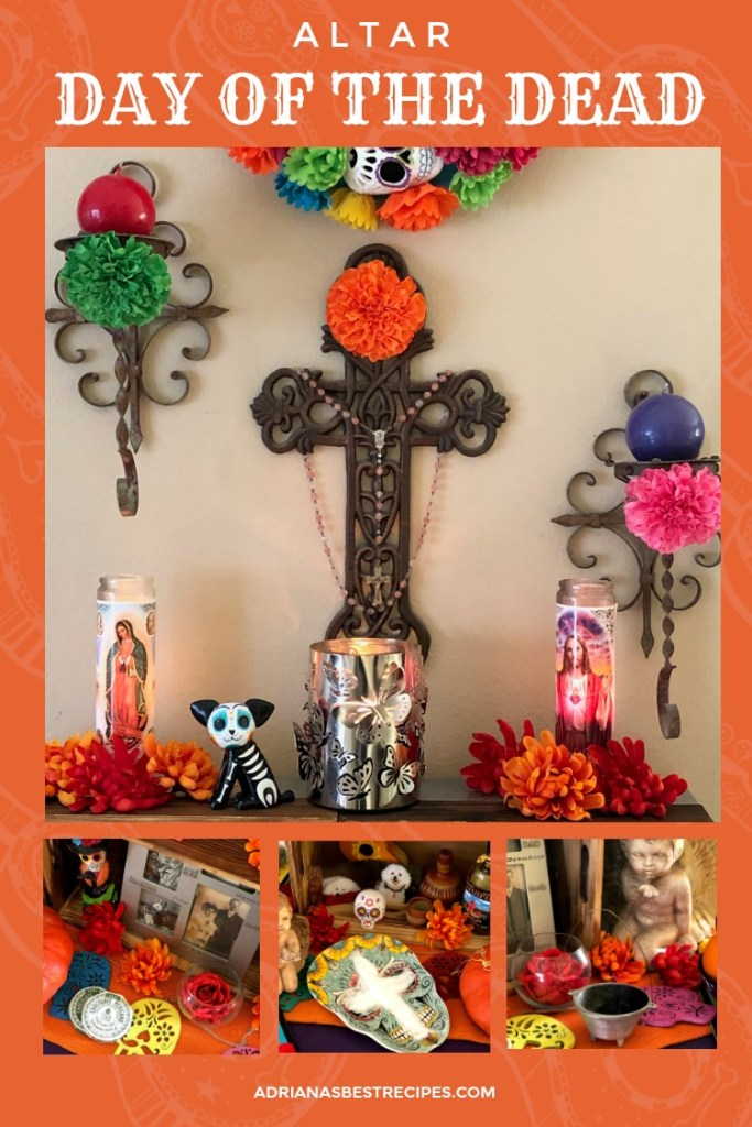 How to set up a day of the dead altar at home using all the symbolism and adding our own to fit our family and beliefs for remembering the departed