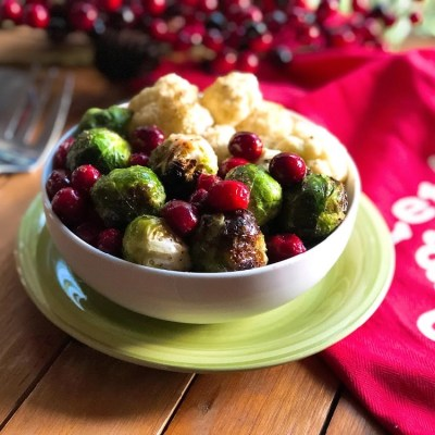 Holiday Roasted Veggies with Cranberries