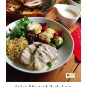 The spicy mustard pork loin is simple to make and has a delicious flavor thanks to Colmans Mustard