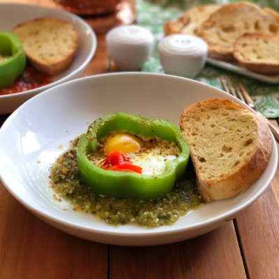 Bell Pepper Egg Breakfast