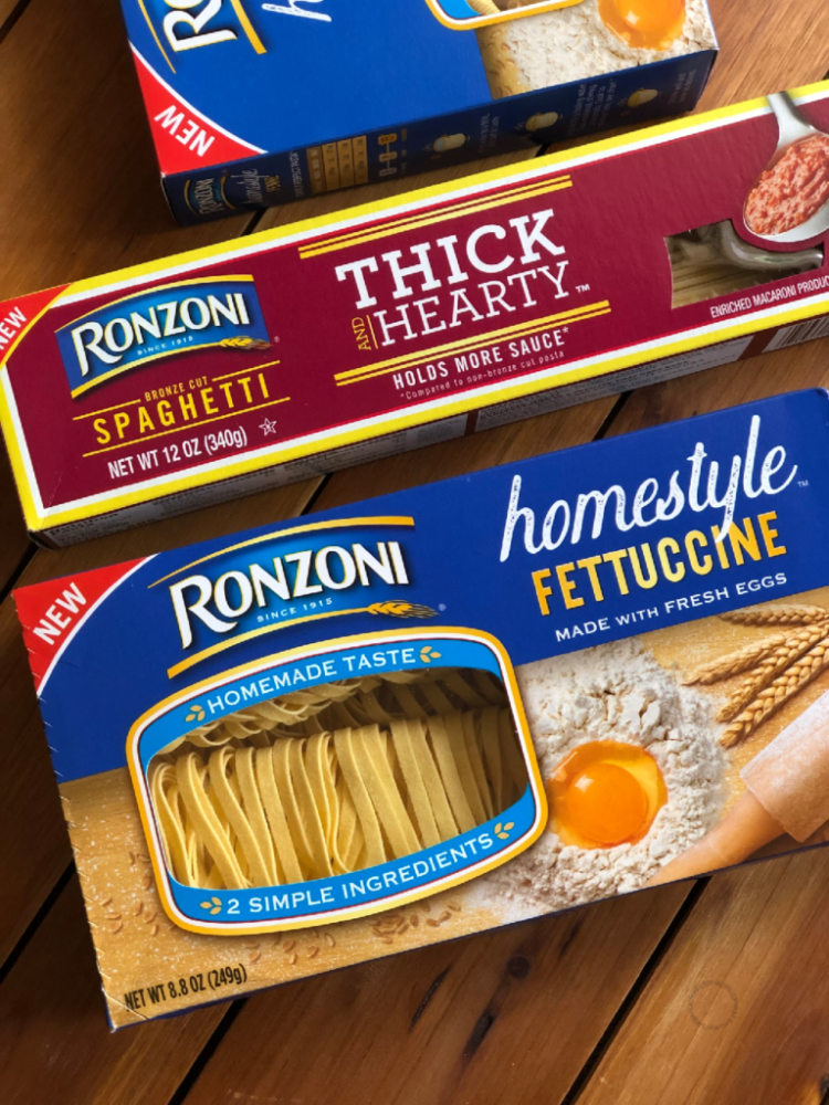 The Ronzoni Homestyle Pasta has high-quality semolina wheat flour, and fresh eggs.