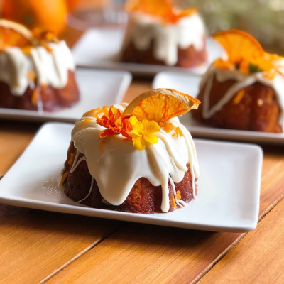 May is my birthday month, and I want to celebrate with you by baking this Cara Cara orange mini bundt cake desserts.