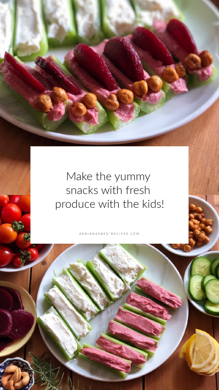 Making this snacks with the kids it is a great activity for them to get involved