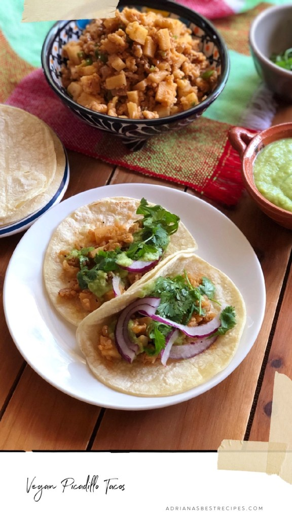 Vegan Picadillo Tacos with Kohlrabi