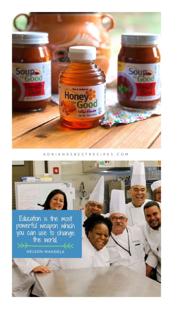 This is the signature line of products created by the chefs at A Spoonful of Hope. Includes honey and basil tomato soup.