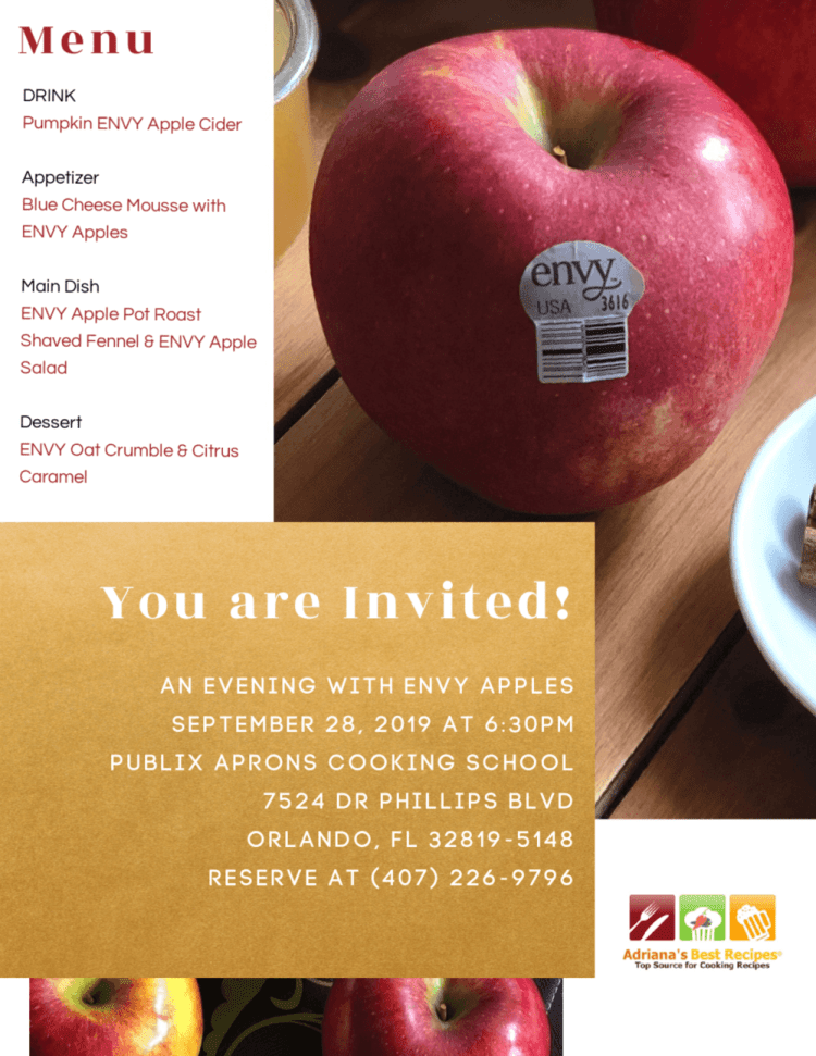 On Saturday, September 28th join us at the Publix Aprons Cooking School at Dr. Phillips in Orlando. Class starts at 6:30 PM. Registration opens at 10:00 a.m. on 9/6/2019. Register at the Publix Aprons site