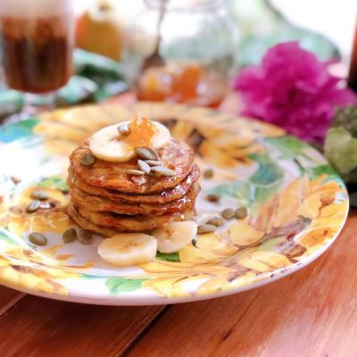Flourless Pancakes a Zero-Waste Recipe