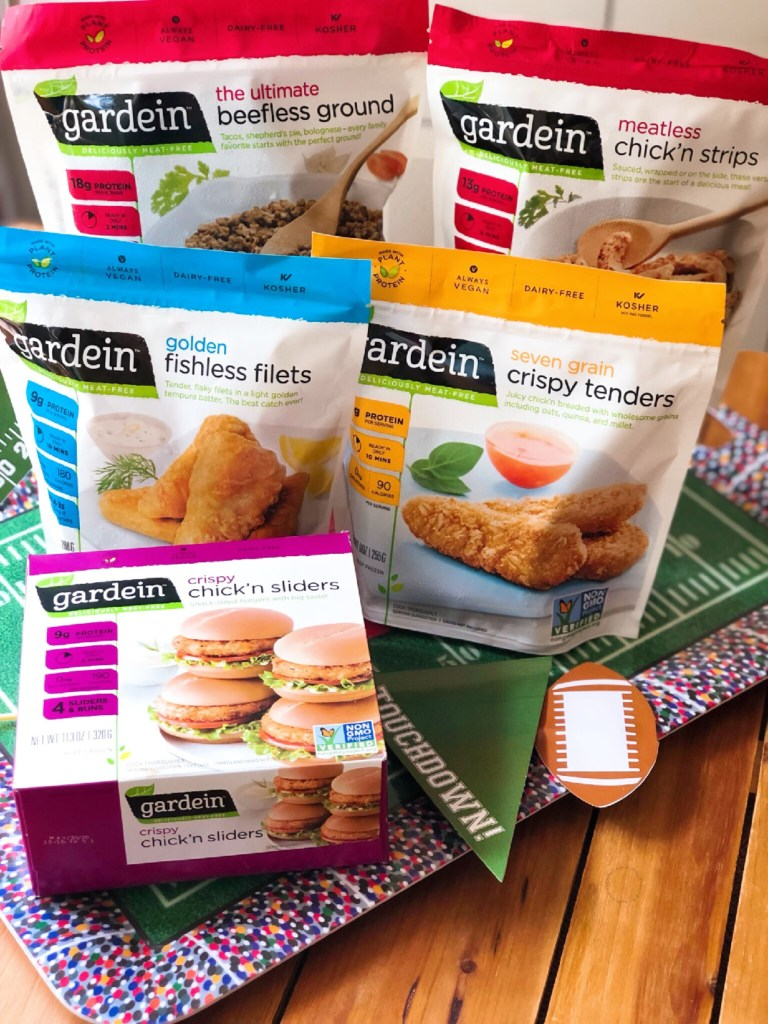 Gardein plant-based products include an array of options. Are chef created and have a meaty texture. Perfect for game time and football season.
