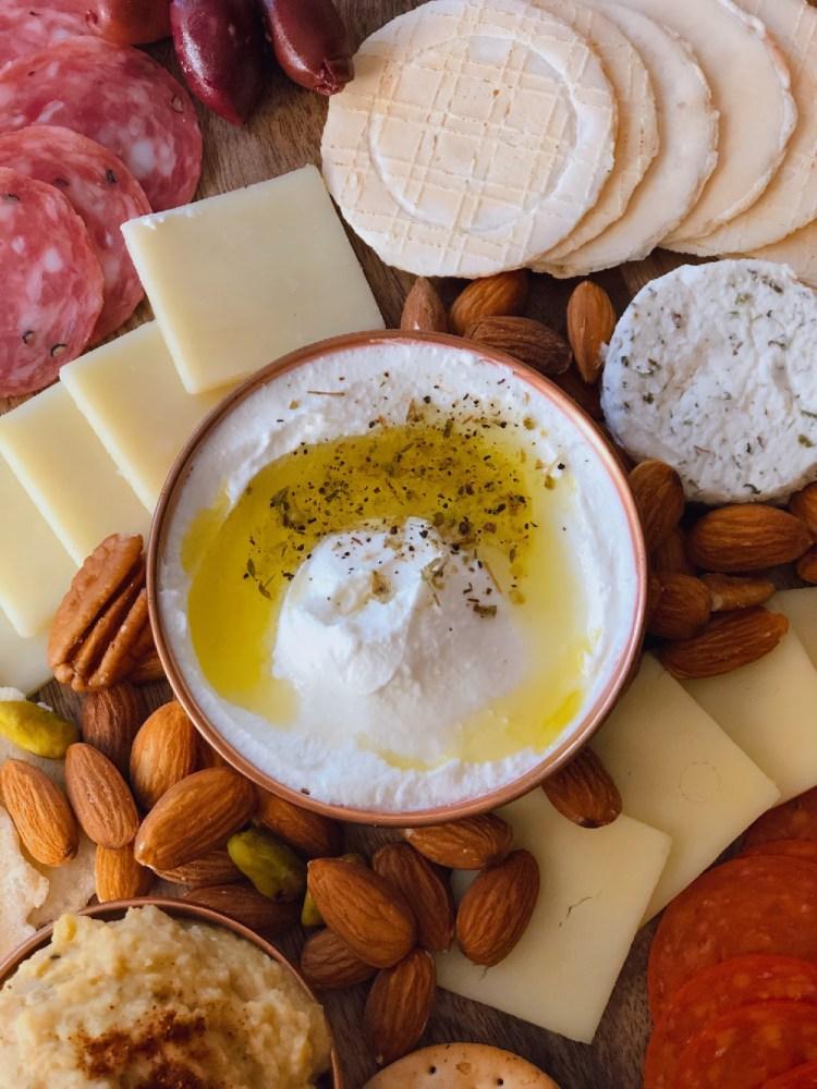 Labneh, a Lebanese style strained yogurt