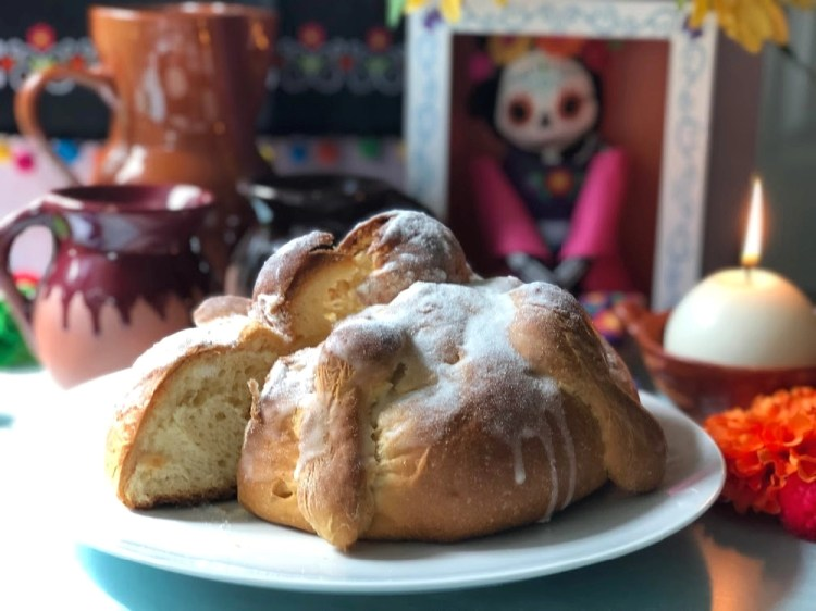 This is the Mexican bread for Day of the Dead