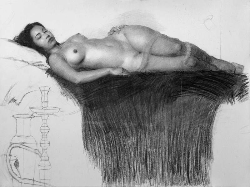 Adrian Gottlieb - charcoal drawing for Marble Palace