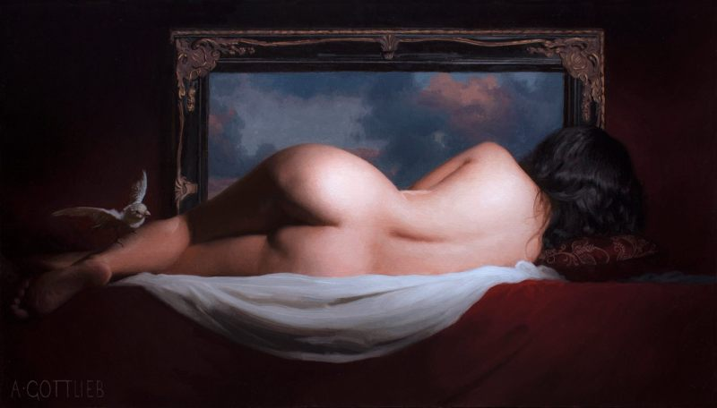 Magic Mirror by Adrian Gottlieb, oil on linen, 24 x 42 inches