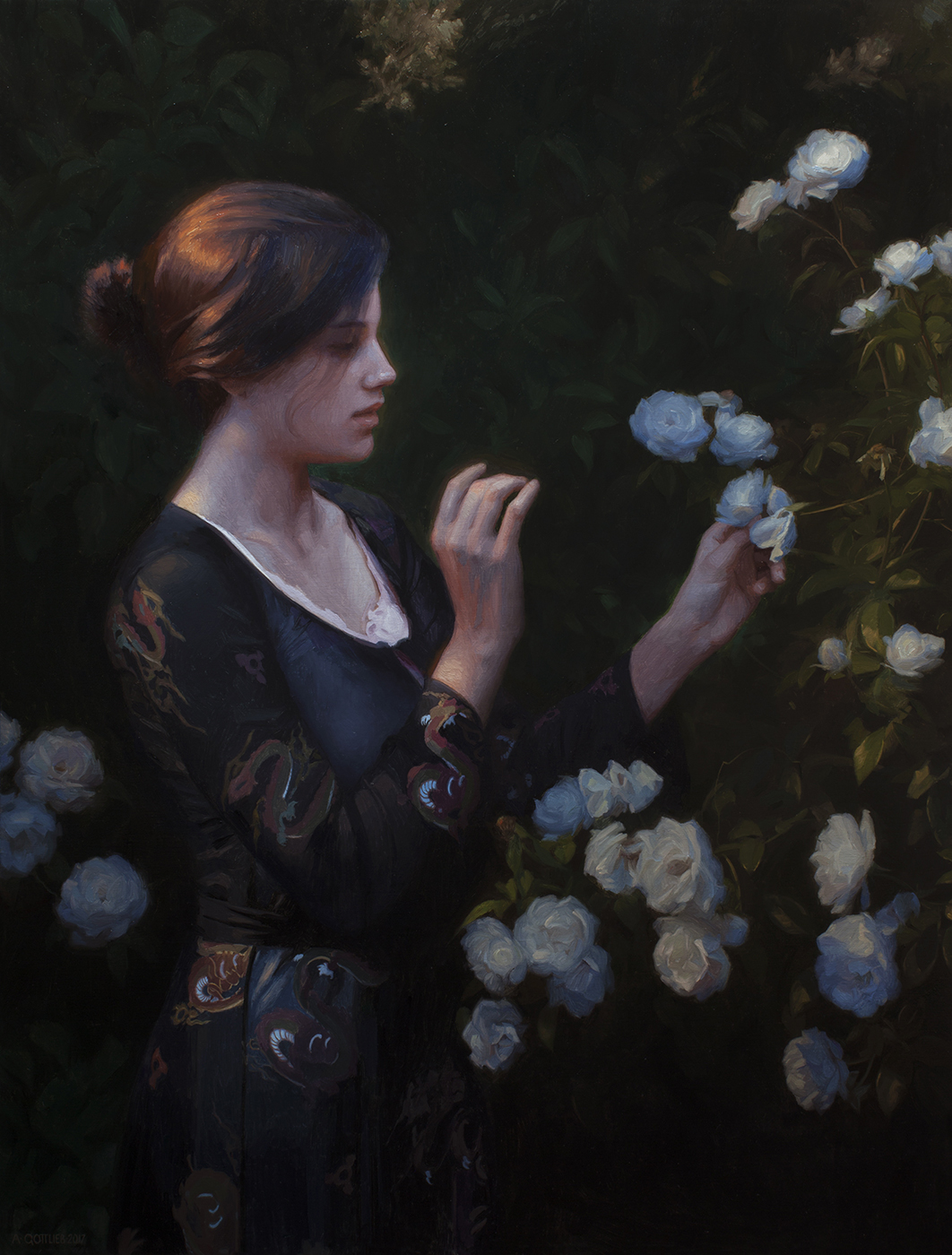Anticipation, 50 x 35 inches, oil on linen by Adrian Gottlieb