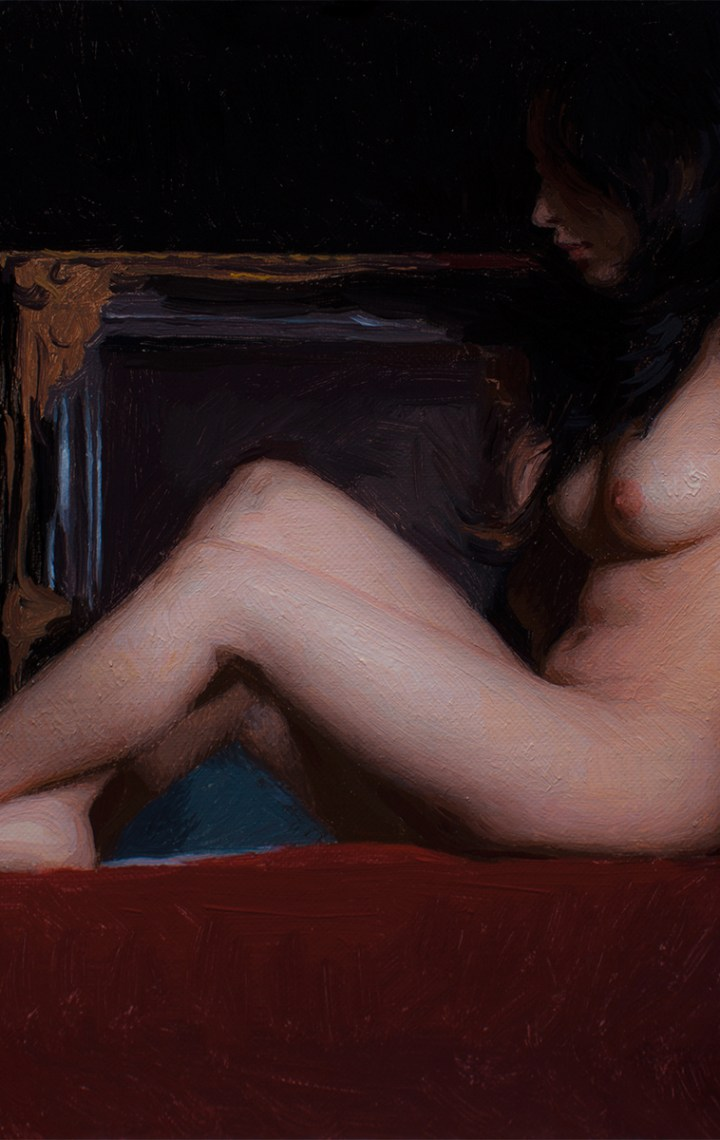 Miniature of Pasithea, 9x12, oil on panel by Adrian Gottlieb