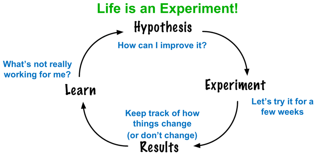 Life as an experiment loop.