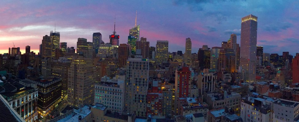 new york cityscape from rooftop