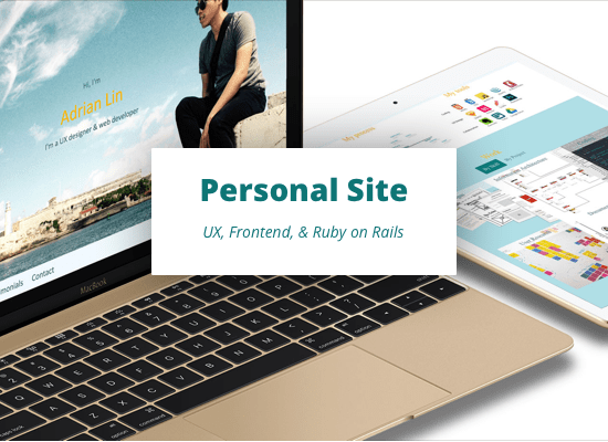 Personal Homepage - UX, Frontend, & Ruby on Rails