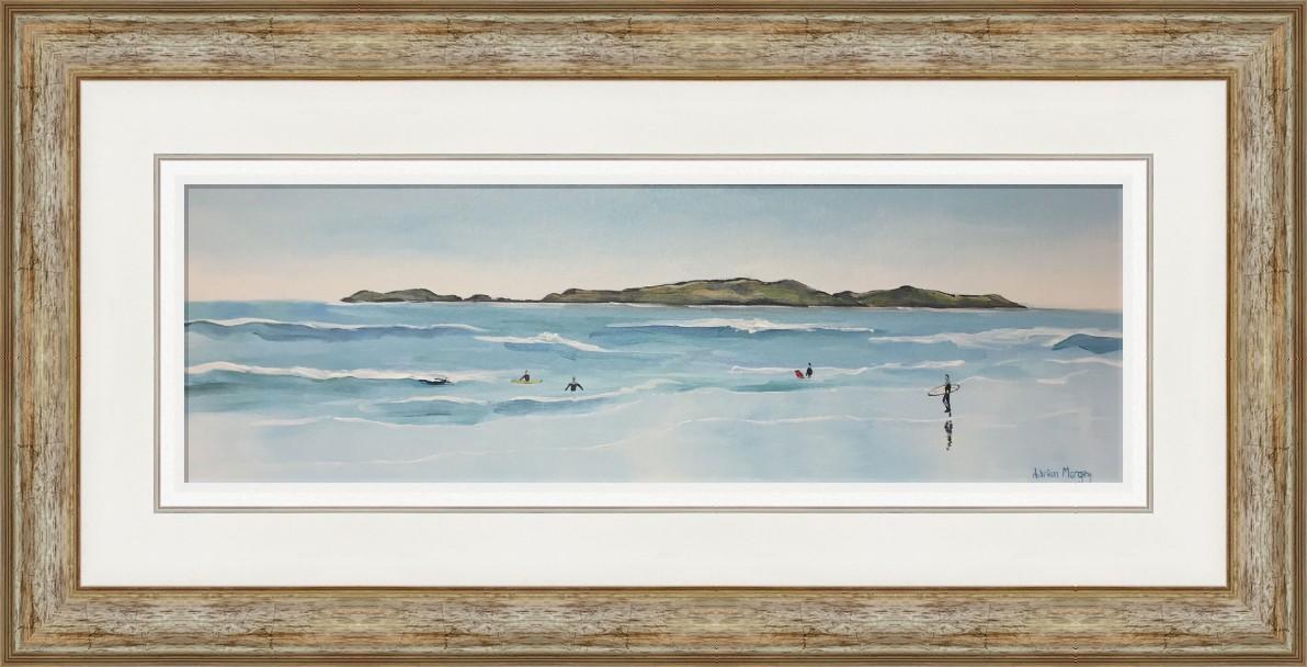 East Strand Surfers Framed