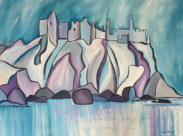 Dunluce Icon | Hand-embellished Canvas Print