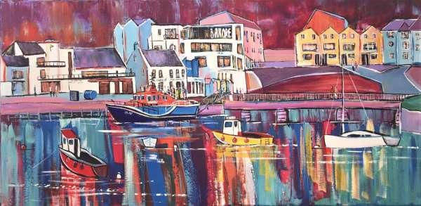 Portrush Harbour Nights Canvas Print