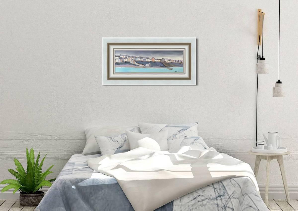 South Pier, Portrush Harbour Framed in Room