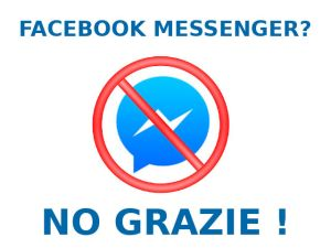 Facebook Messenger No Grazie