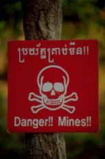 Warning sign - land mines