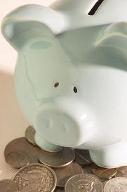 White china piggy bank (a metaphore for value)