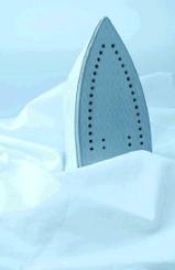 Iron on white fabric