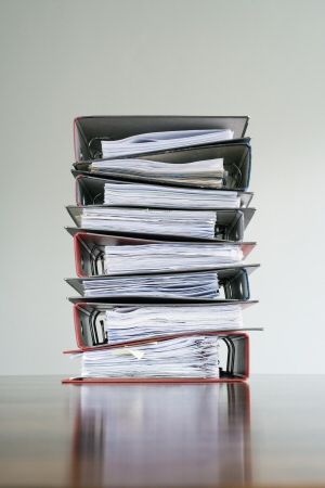 A stack of folders