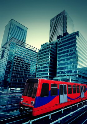 Docklands Light Railway at Canary Wharf