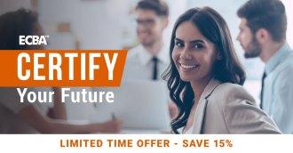 ECBA: Certify your future - 15% off