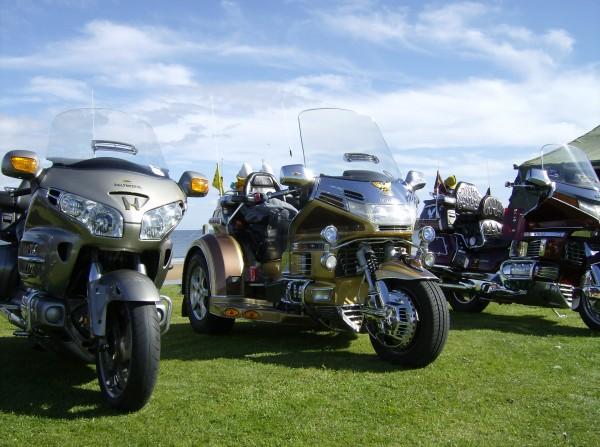 Honda Goldwing motor bikes at St Andrews Harbour Gala.