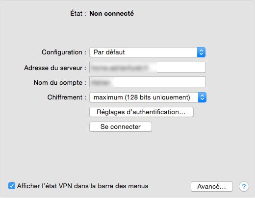 VPN : Synology et OS X - iOS (3/6)