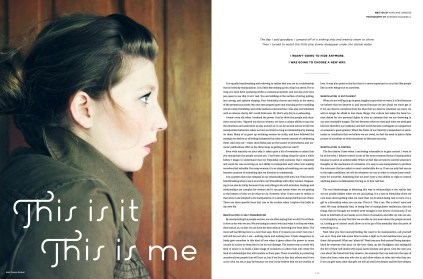 This Is It This Is Me, Darling Magazine Issue No. 1
