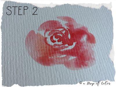 mini tutorial come realizzare una rosa con l'acquerello