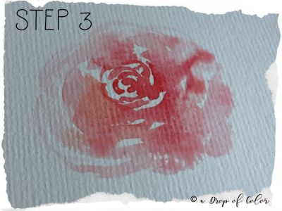 come realizzare una rosa con l'acquerello in 3 step