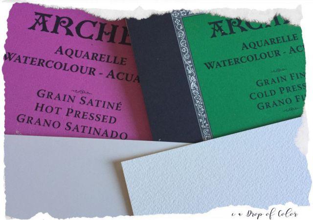 Arches carta 100% cotone acquerello