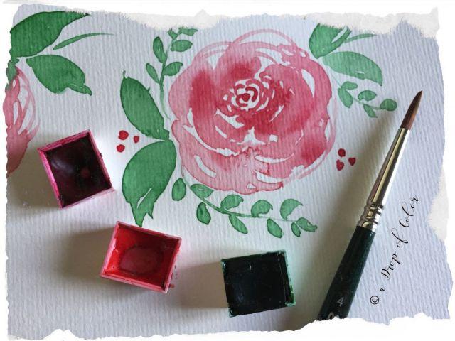 Mini tutorial: come realizzare una rosa con l'acquerello