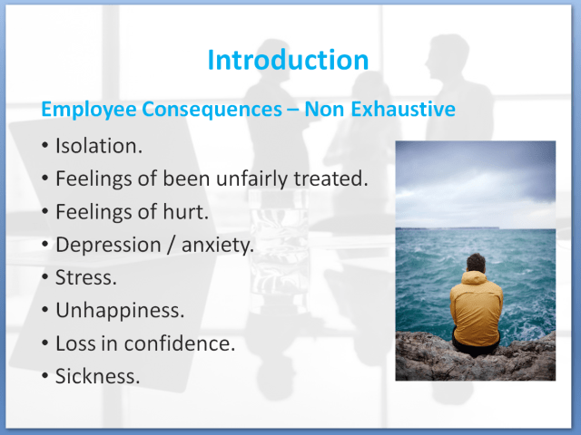 Bullying and Harassment Awareness Training Course | Employee Consequences