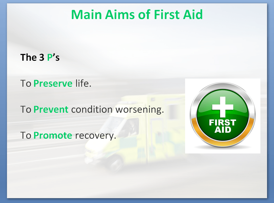 First Aid Training Course | Main Aims of First Aid