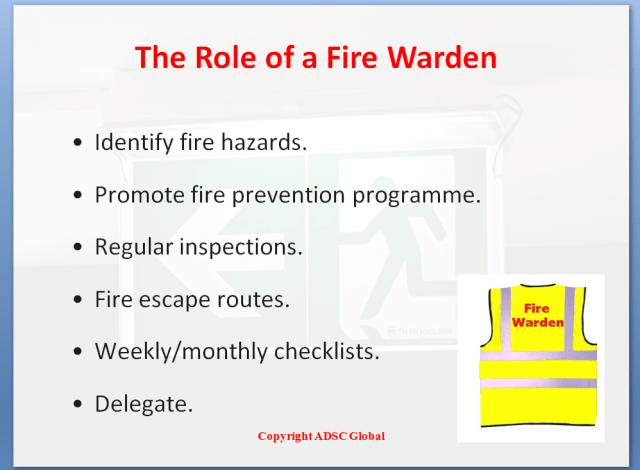 The Role of a Fire Warden