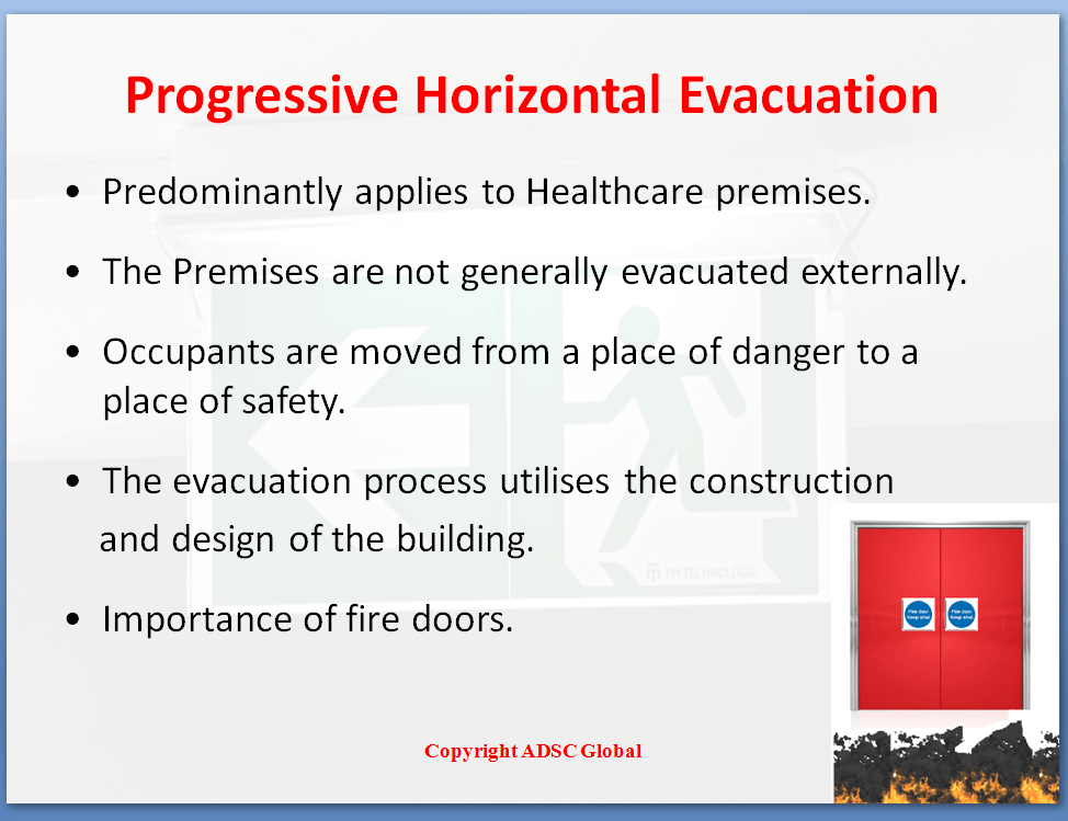 Progressive Horizontal Evacuation